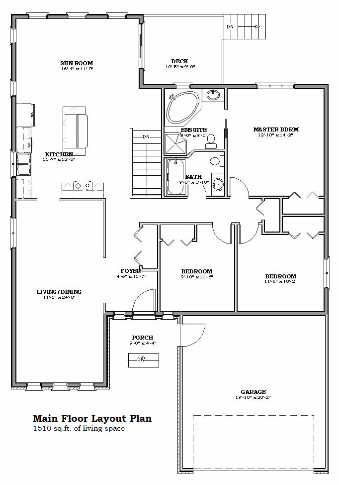 The Royal B Floorplan